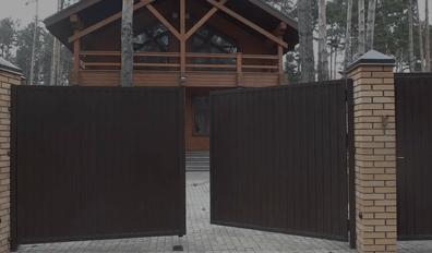 Заказать распашные ворота с установкой в Заборпроф