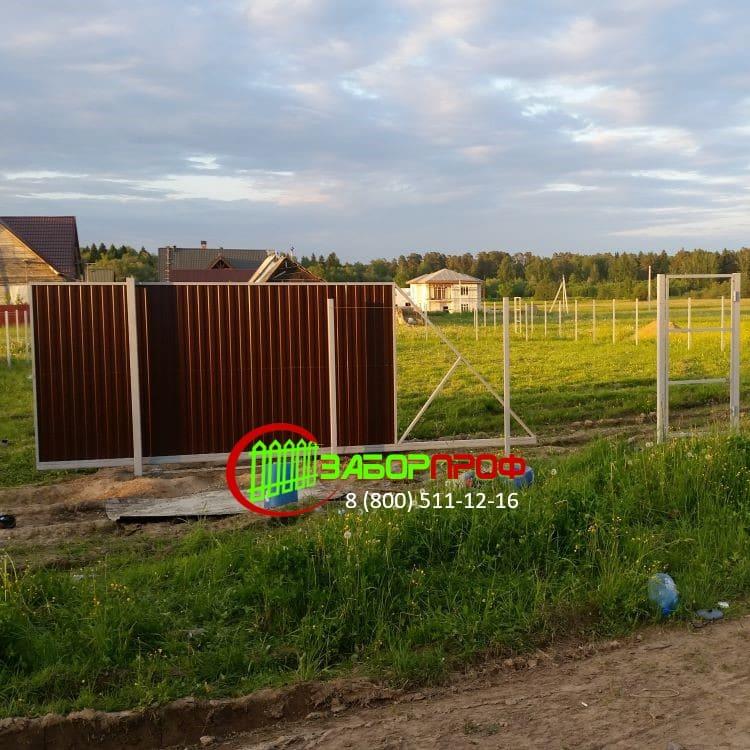 Заказать строительство откатных ворот недорого