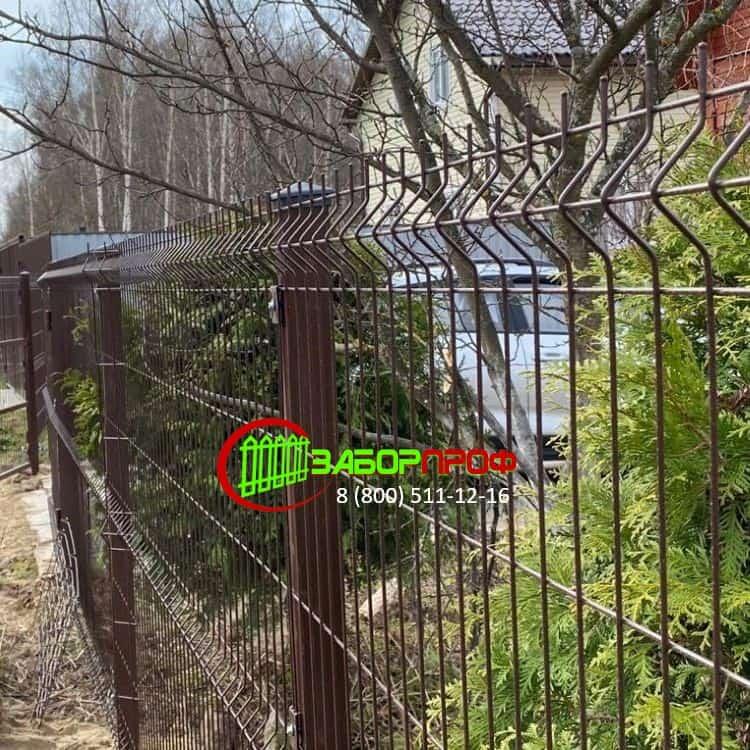 Заказать 3Д забор с полимерным покрытием в Москве