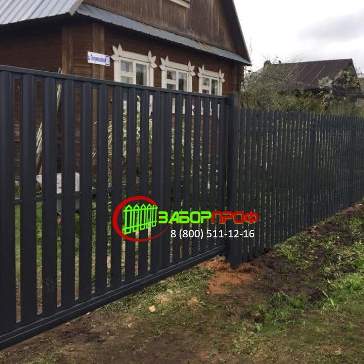Забор из двустороннего евроштакетника в Московской области
