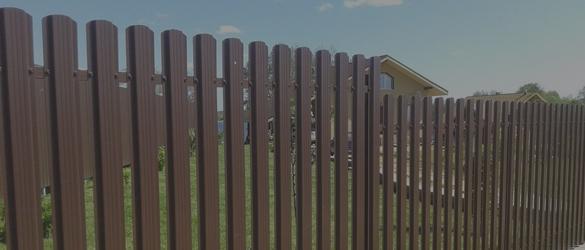 Забор из евроштакетника на 6 соток под ключ