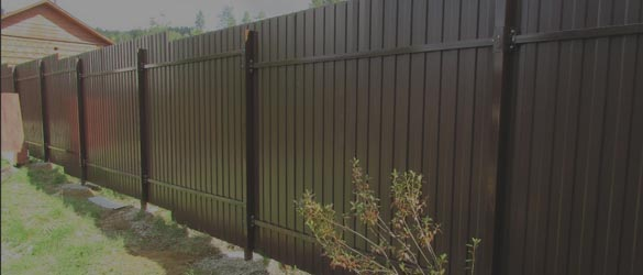 Забор из профлиста на 6 соток под ключ
