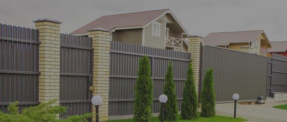 Заборы из профлиста для частного дома