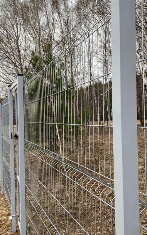3Д забор с оцинковкой