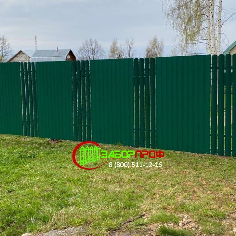 Забор для дачи в Подмосковье